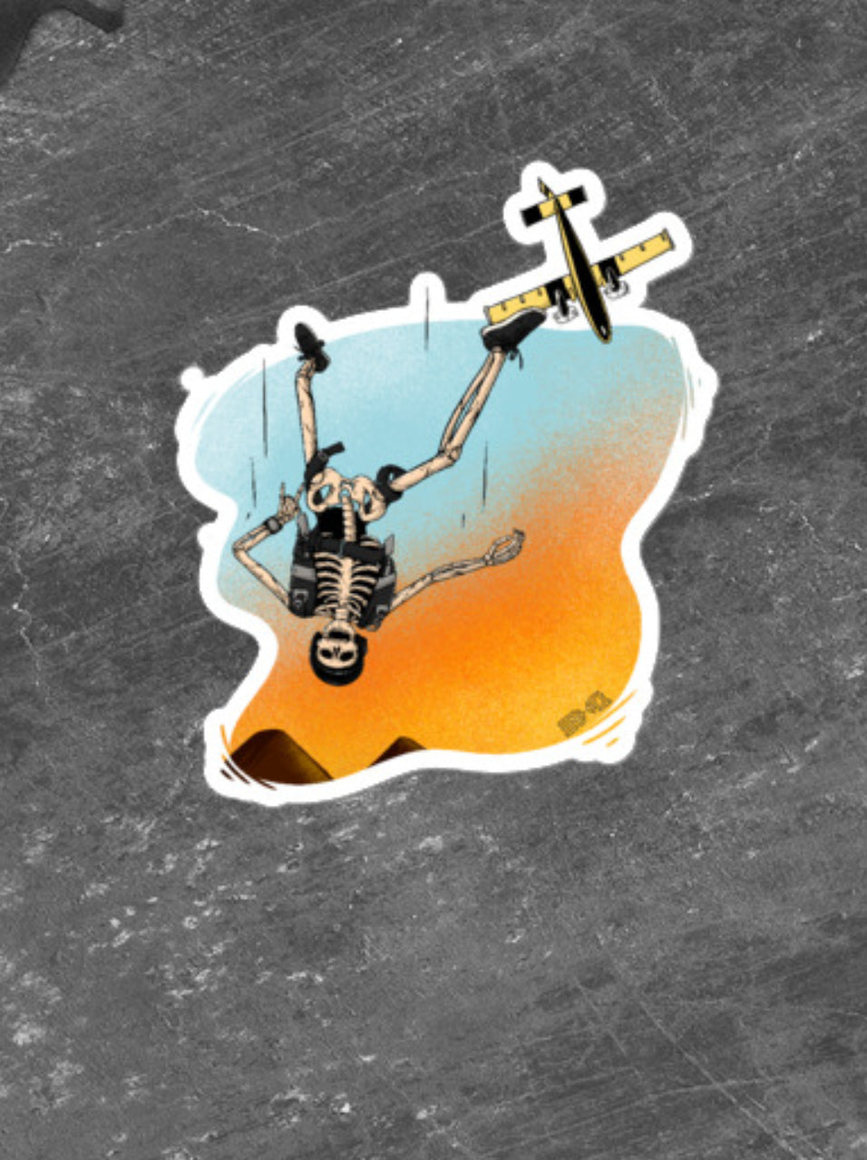 Skydive Skellie Sticker