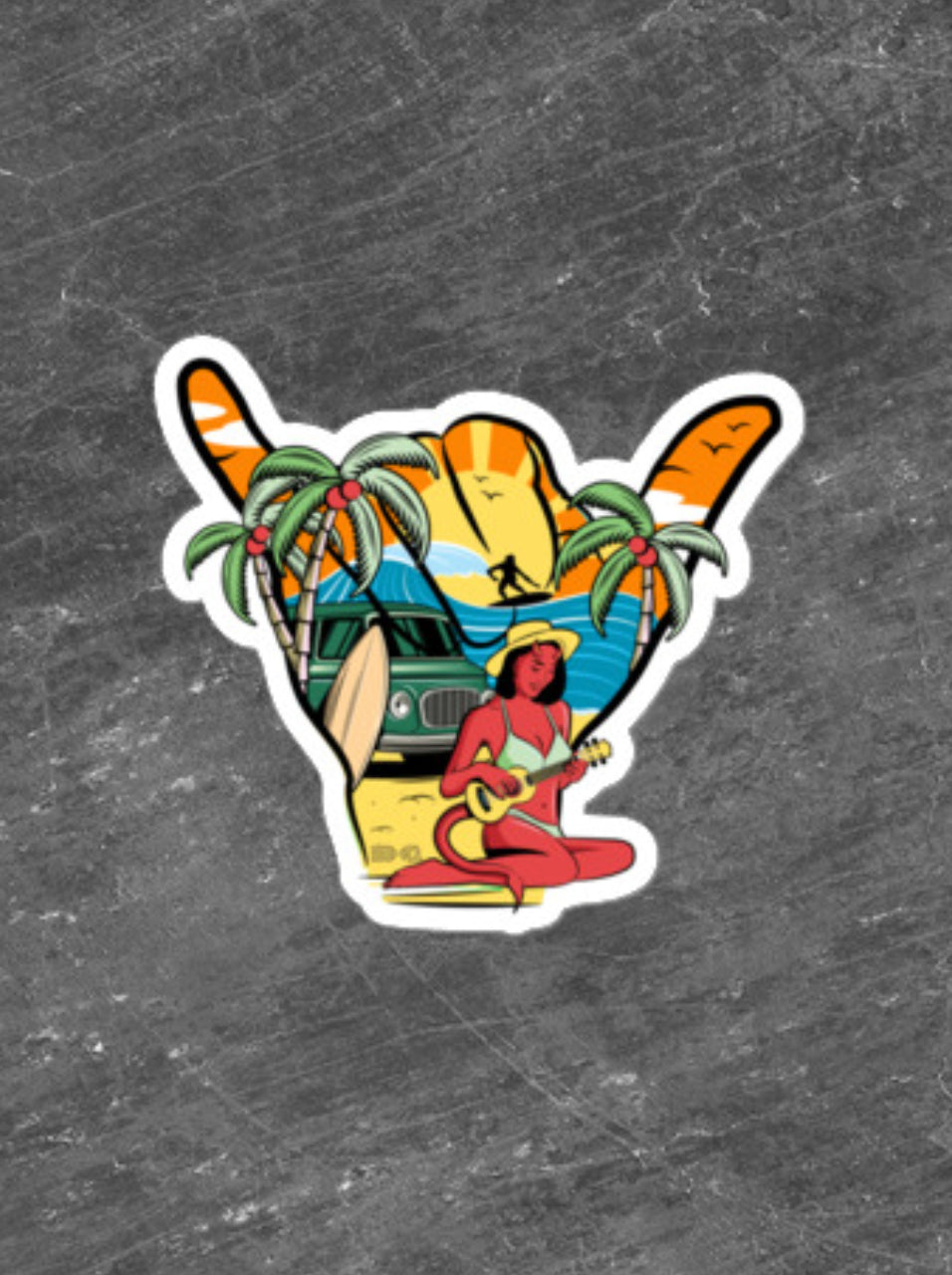 Shaka Beach Sticker