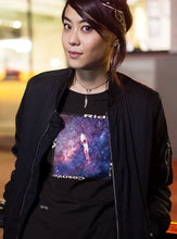 Load image into Gallery viewer, Ride The Cosmic Wave Women's Slim Tee