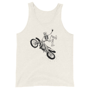 MotoX Skellie B&W Men's Tank