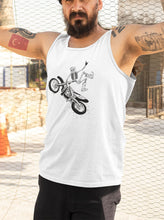 Load image into Gallery viewer, MotoX Skellie B&W Men's Tank
