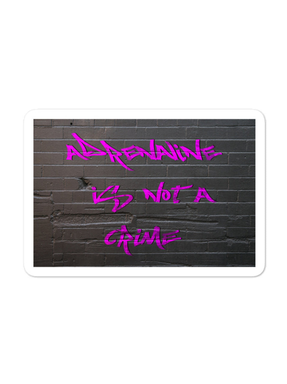 Adrenaline Pink Graffiti Sticker