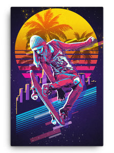Sunset Shred Canvas