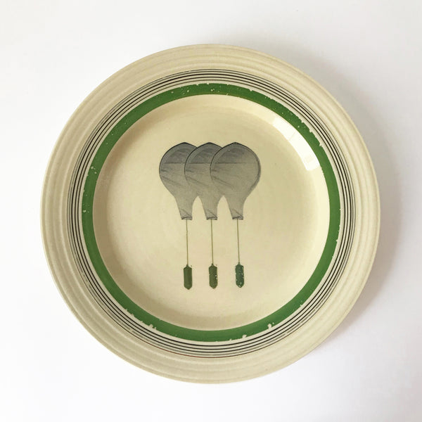 Ceramic plate with balloon design