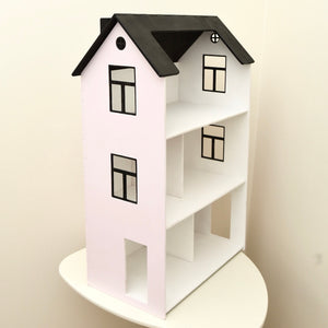 Dollhouse, three-story, Light pink & Black  -FREE SHIPPING!