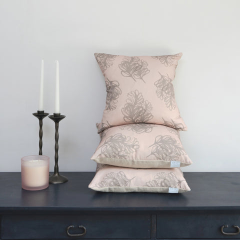 Plume Blush cushion pile Juliette o designs