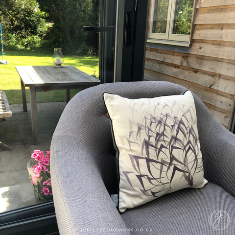 artichoke flourish cushion in situ