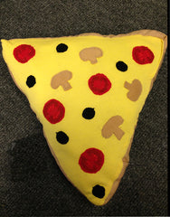 Pizza slice yr 8 soft sculpture recycled materials