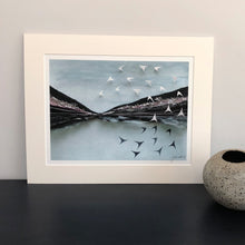 Load image into Gallery viewer, coastline mixed media artwork print