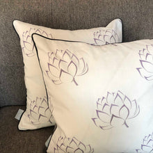 Load image into Gallery viewer, Ivory Artichoke Cushion
