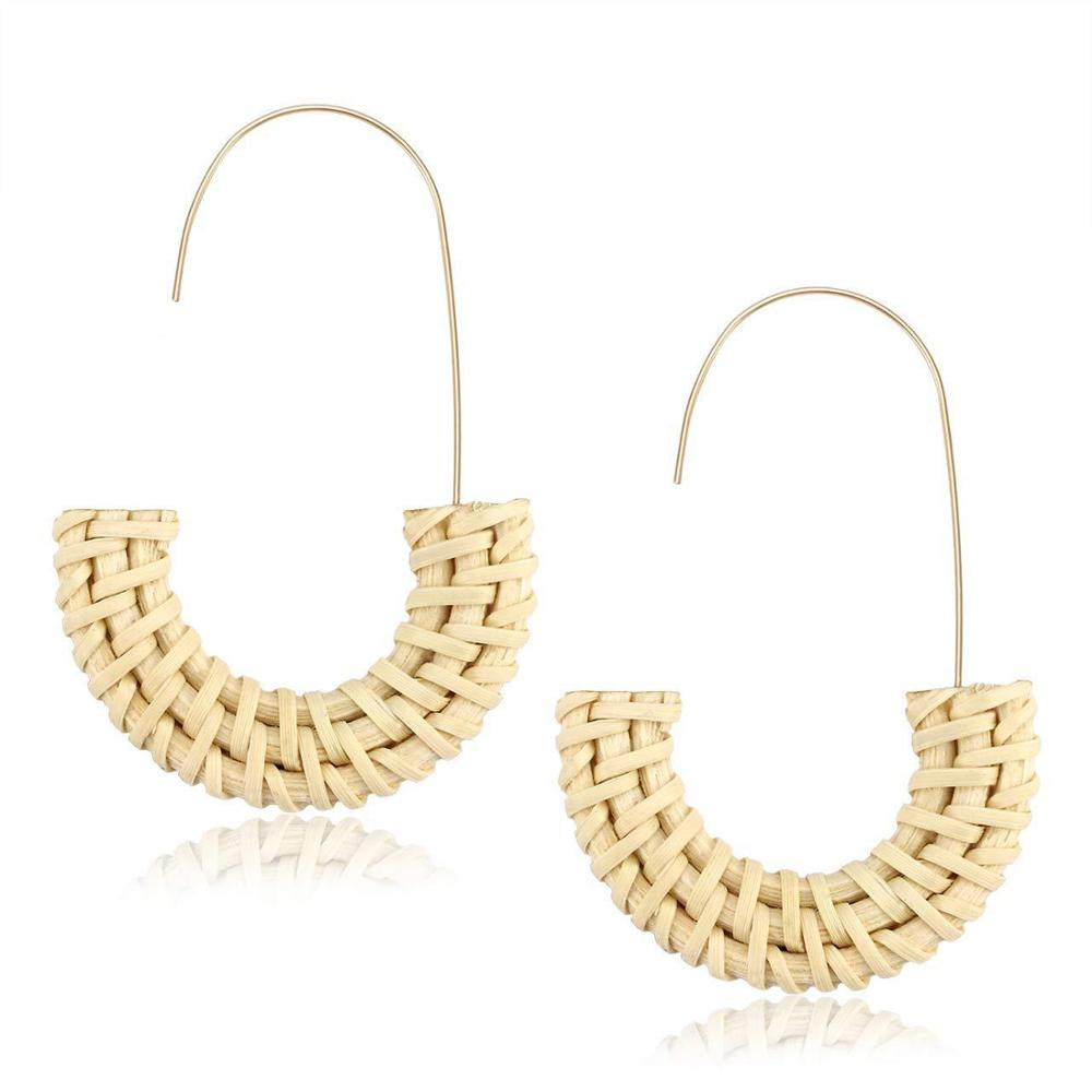 BIRDIE /  RATTAN EARRINGS