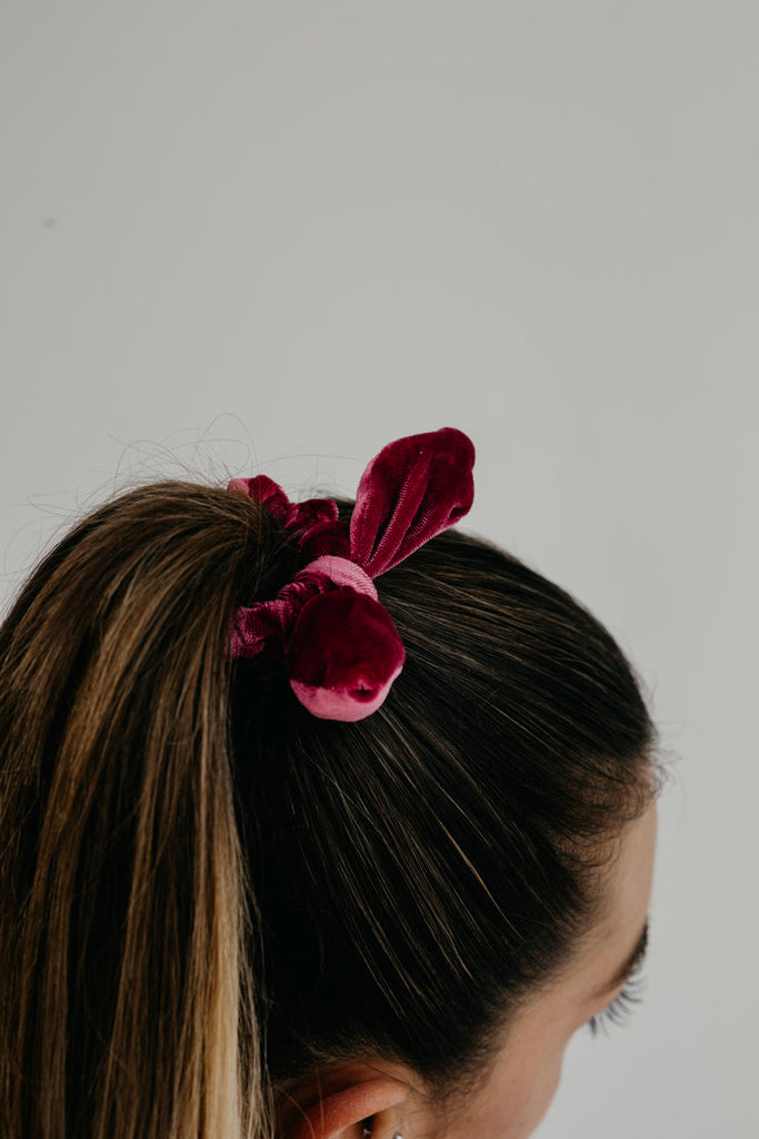 MATILDA / RUBY BOW SCRUNCHIE