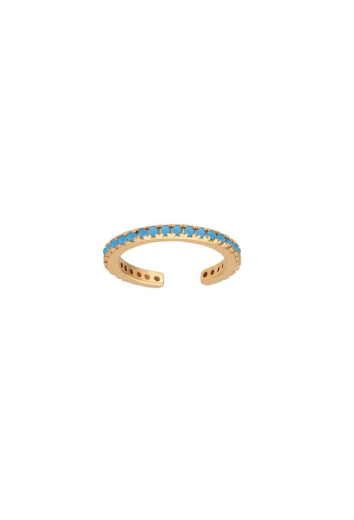 MAE / TURQUOISE PAVE EAR CUFF