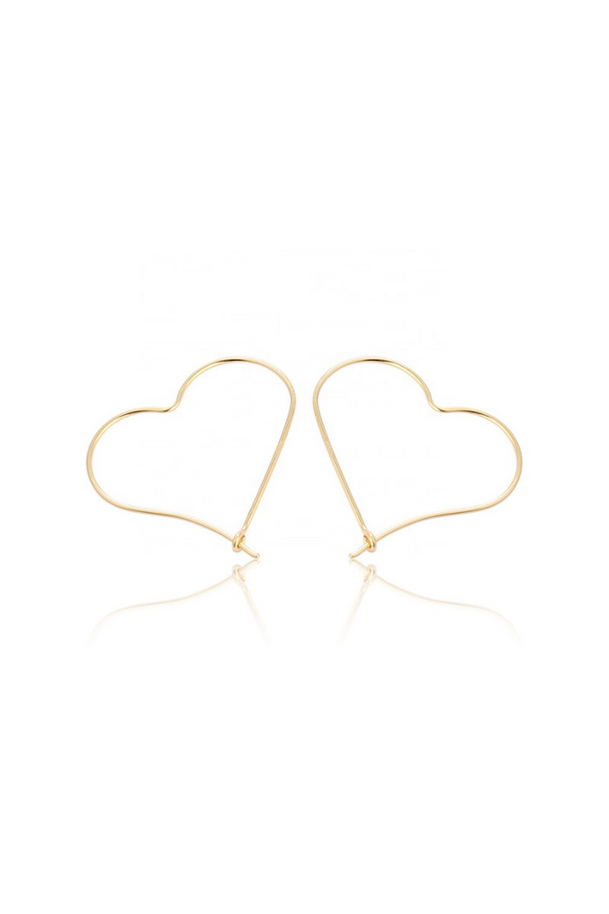 GIA / GOLD HEART HOOPS