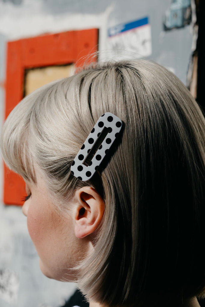 ZARINA / POLKADOT HAIR CLIPS (SET OF 2)
