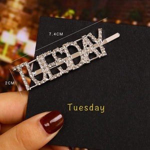 Day of the Week Hair Clip