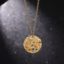 Load image into Gallery viewer, Gold Zodiac Star Sign Pendants