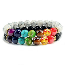 Load image into Gallery viewer, 2Piece Unisex Chakra Bracelet