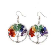 Load image into Gallery viewer, Tree of Life Pendulum Earrings
