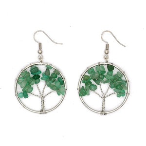 Tree of Life Pendulum Earrings