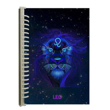 Load image into Gallery viewer, leo star sign notebook journal