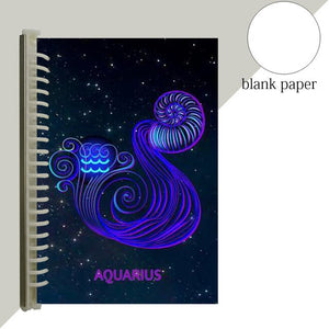 aquarius star sign notebook journal