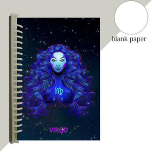 virgo star sign notebook journal