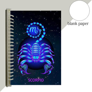 scorpio star sign notebook journal