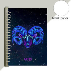aries star sign notebook journal