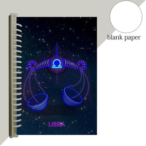 libra star sign notebook journal