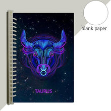 Load image into Gallery viewer, taurus star sign notebook journal