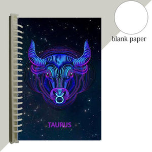 taurus star sign notebook journal