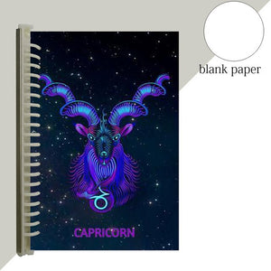 capricorn star sign notebook journal