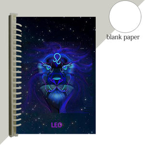 leo star sign notebook journal
