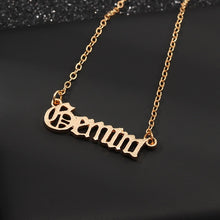 Load image into Gallery viewer, Gemini star sign jewellery necklace horoscope