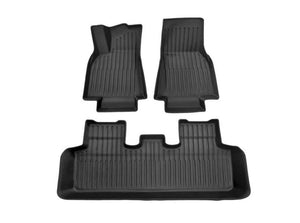 Model Y: All-weather Interior Floor Mats (TPE-O Rubber, 3 PCs)