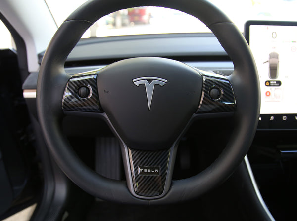 Model Y: Steering Wheel Decal (ABS)