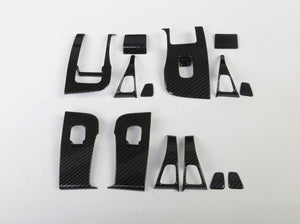 Model 3/Y: Carbon Fibre Molded Window & Door Switch Covers (14 PCs)
