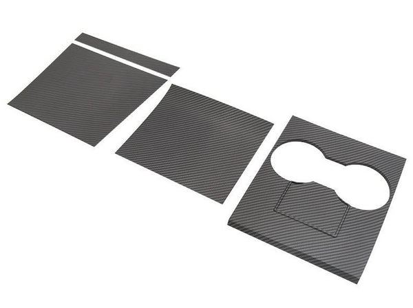 Model 3/Y: 4 PCs Carbon Fibre Centre Console Cover Set