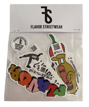 Load image into Gallery viewer, Flavor Streetwear Sticker Pack