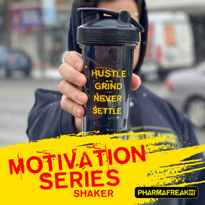 MOTIVATION SERIES SHAKER BOTTLE - HUSTLE GRIND NEVER SETTLE