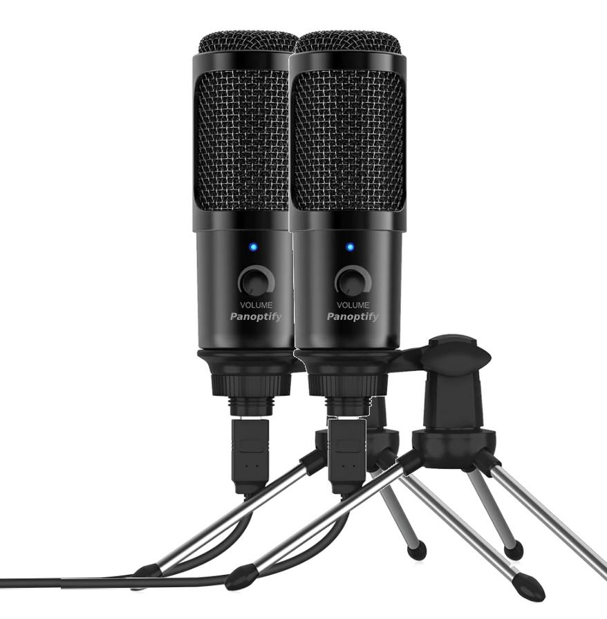 2 Pack Bundle - USB Microphone for Laptop and Desktop Computer