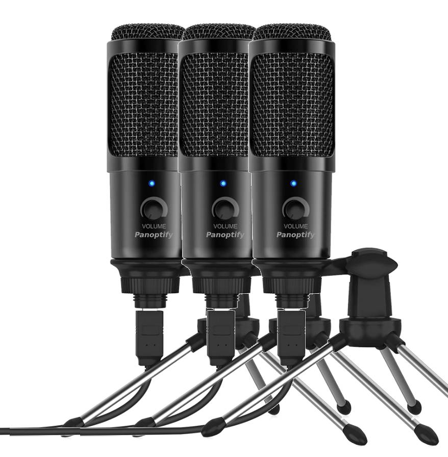 3 Pack Bundle - USB Microphone for Laptop and Desktop Computer