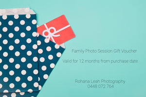 Family Photosession Gift Card