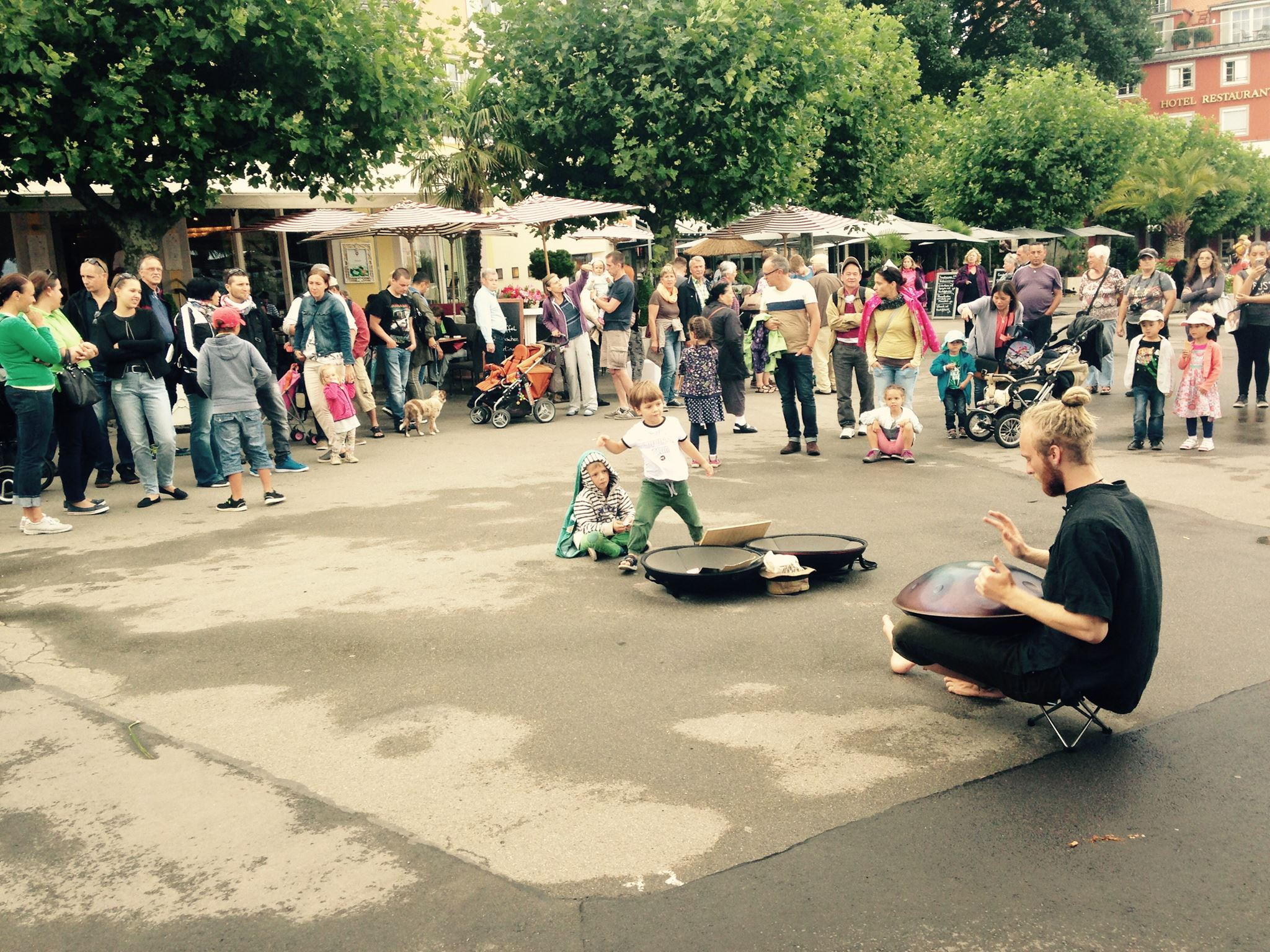 Handpan player Malte Marten in Lindau