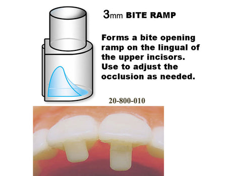 Bite Ramp - 3mm (pack of 8 with handle)