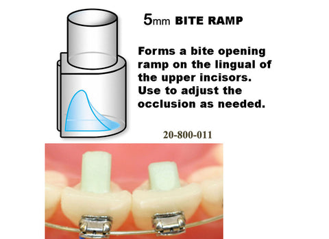 Bite Ramp - 5mm (pack of 8 with handle)