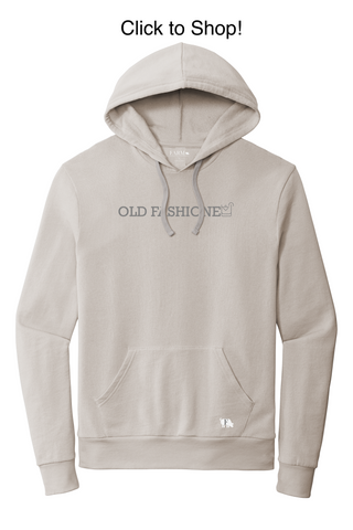 """Comfortable graphic sweatshirt with """"Old Fashioned"""" print"""