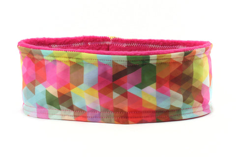 Polar Fleece Geometric Rainbow