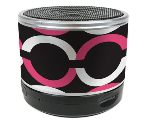 Bluetooth Speaker Chained Pink Black